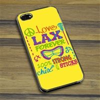 Lacrosse iPhone/Galaxy Case Chix With Stix - This customizable protective case is the perfect accessory for any lacrosse players phone. This great cell phone case fits the iPhone 4, iPhone 4S, iPhone 5, Samsung Galaxy S3, and Samsung Galaxy S4..