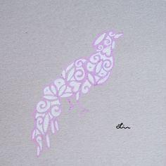 Illustratie Zomer zwieren Paradijsvogel by deAntiekFabriek