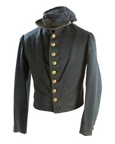 Early Indian War 10th US Cavalry Officer's Kepi and Fatigue Jacket, (2007, Winter Firearms Auction, Nov 7 & 8)