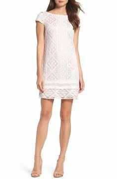 Vince Camuto Lace Shift Dress (Regular & Petite)