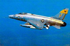 North American F-100D Super Saber of the 429th TFS, 3rd TFW, in rout to its target in Vietnam, December 1965.