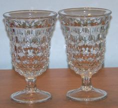2 Fostoria American Low Water Goblets - 2 Pairs Available    $15 for the pair
