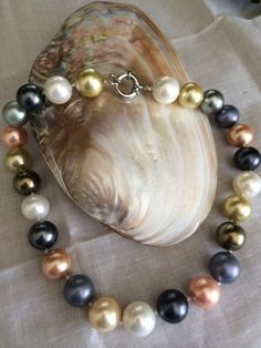 Colorful Pearl Majorca Beads  Necklace hand made by Viktoriyasshop, $98.00
