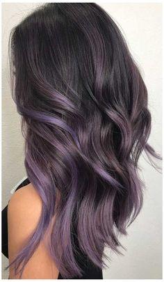 Lavender Hair Colors, Lilac Hair, Hair Color Purple, Hair Dye Colors, Hair Color For Black Hair, Brown Hair Colors, Ombre Hair, Winter Hair Colors, Purple Brown Hair