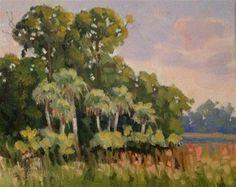 """Afternoon Palms"" - Original Fine Art for Sale - ©Linda Blondheim"