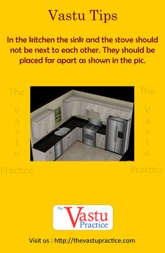 Vastu For Kitchen - The kitchen is best located in the South-East corner of the house called Aagneya. Vastu Guide for Kitchen, Vastu Importance in Kitchen. Kitchen Vastu, Kitchen Sink Diy, Kitchen Sink Window, Kitchen Stove, Diy Kitchen Cabinets, Kitchen Corner, Kitchen Layout, Kitchen Decor, Kitchen Design