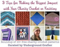 3 Tips for Making the Biggest Impact with Your Charity Crochet or Knitting, with a roundup of 10+ free #crochet patterns for #charity on @ucrafter
