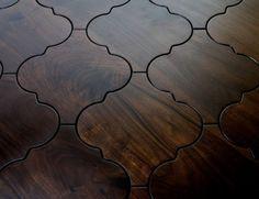 Kitchen floor tile but still looks like hardwood - just beautiful!