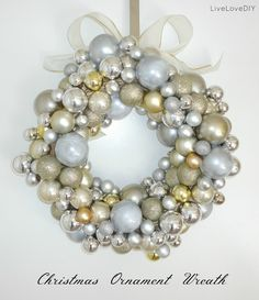 Diy bauble wreath diy crafts for moms crafty 2 the corediy my next project for sure how to make your own diy ornament wreath using only dollar store items solutioingenieria Images