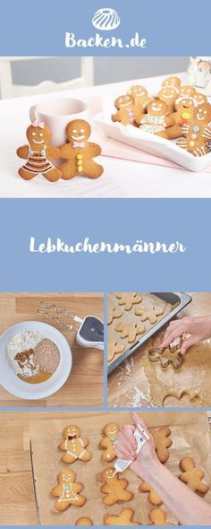 gingerbread men - This brings life to the Advent plate: homemade gingerbread men. There are no limits to your imagina - Easy Smoothie Recipes, Easy Smoothies, Good Healthy Recipes, Best Christmas Cookies, Christmas Desserts, Gingerbread Man, Gingerbread Cookies, Nutella Cookies, Coconut Smoothie