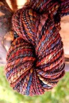 Sweet Plum Yarn, Hand Dyed, Hand Spun, Soft Merino Wool
