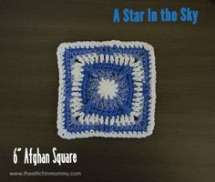 A Star in the Sky – 6 Inch Afghan Square
