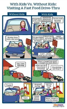 Wait, Isn't This Drive-Thru Thing Supposed To Be Convenient? | More LOLs & Funny Stuff for Moms | NickMom: