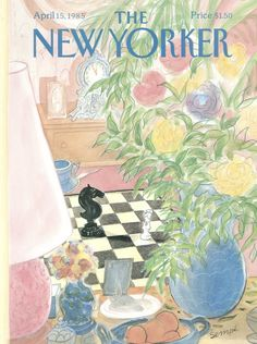 """The New Yorker - Monday, April 1985 - Issue # 3139 - Vol. 61 - N° 8 - Cover by """"Sempé"""" - Jean-Jacques Sempé Photo Wall Collage, Picture Wall, Collage Art, Poster S, Poster Wall, Poster Prints, New Yorker Covers, The New Yorker, Room Posters"""