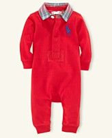 Ralph Lauren Baby Coverall, Baby Boys Rugby Coverall