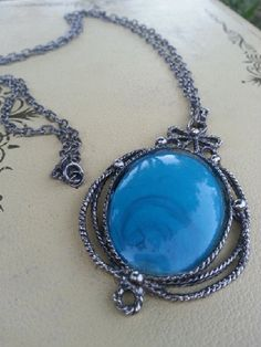 Turquoise Inspired Vintage Pendant Necklace by BohoBeachArtistry, $23.00