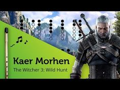 Kaer Morhen (The Witcher Wild Hunt) on Tin Whistle D + tabs tutorial Irish Flute, Tin Whistle, The Witcher 3, Wild Hunt, Sheet Music, Songs, Youtube, Youtubers, Music Sheets