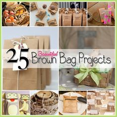 25 Beautiful Brown Paper Bag Projects (Neat projects!)
