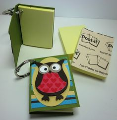 Great little gift! (CCV) Inking Idaho: Owl Punch Post-It Notes Pioneer School Gifts, Owl Punch Cards, Post It Note Holders, Owl Card, Diy Papier, Owl Crafts, Craft Show Ideas, Punch Art, Paper Gifts