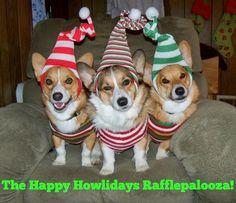 The Daily Corgi: The Daily #Corgi Happy Howlidays Rafflepalooza: Twenty THREE Prize Packages!