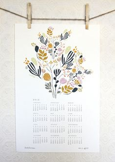 2012 floral calendar