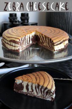 zebra cheese cake
