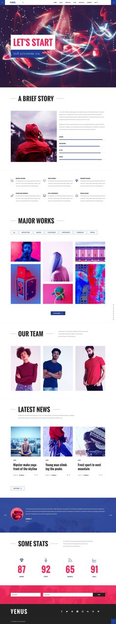 """Check out this @Behance project: """"Venus Creative WP Theme"""" https://www.behance.net/gallery/51462079/Venus-Creative-WP-Theme"""