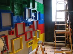 First layer of boxes are hung by MrGSnot, via Flickr