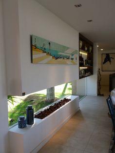 quadro parede de vidro estant com iluminacao lareira ecologica