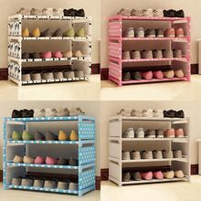1Set DIY Non-woven Fabric Shoe Racks Shoe Shelf Non-woven Racks Storage Shoe Cabinet Shoes(China)
