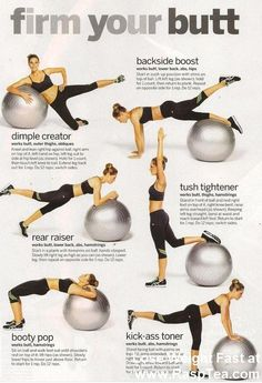 This is what my trainer told me to do, just to start me off - fitness ball workout