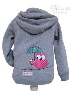Süße Baby-Eulen-Kapuzenjacke von ♥  milimili  ♥     auf DaWanda.com