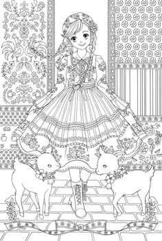 coloring page adult coloring pages Cute Coloring Pages, Disney Coloring Pages, Animal Coloring Pages, Colouring Pics, Adult Coloring Pages, Coloring Sheets, Coloring Books, Diy Y Manualidades, Printable Coloring