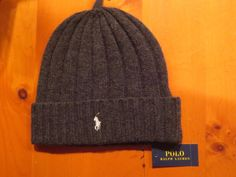 POLO RALPH LAUREN  WOOL BEANIE HAT MEN'S PONY  LOGO SKULL CAP  GRAY NEW #PoloRalphLauren #Beanie
