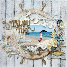 3x layout with colors: Blue Fern Studios Seaside Cottage Collection