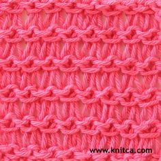 Little Shell pattern knitting stitch; how to knit KNITTING Pinterest Kn...