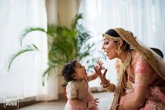 Adorable image of the bride to be with her little niece just before the wedding | WedMeGood| Nikisha & Shyam|#wedmegood #indianweddings #bridalportraits #cute #adorable #babyniece #baby #kids