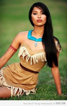 "She was BORN to be Pocahontas lol ""SIMPLE IDEA!! cosplay, disney, girl, gorgeous, pocahontas - inspiring picture on Favim.com"""