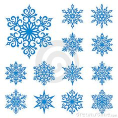 Vector snowflakes set by Rosinka, via Dreamstime