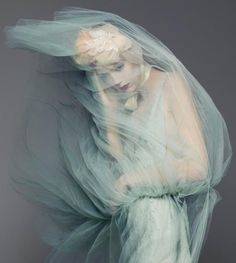 ☫ A Veiled Tale ☫ wedding, artistic and couture veil inspiration - Valentino | Natalie Westling by Sølve Sundsbø