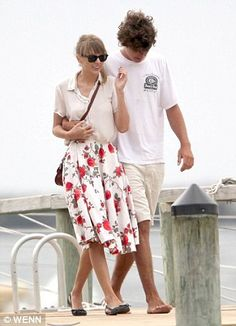 Taylor Swift and Conor Kennedy  together at the Kennedy family compound Hyannisport, Massachusetts