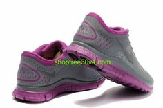 new products 6e4cc 046da JyO7581 Nike Free 4.0 V2 Women s Running Shoe Cool Grey Fireberry Sale  Femme, Chaussures