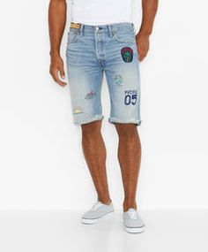 501® Original Cut-Off Shorts - Souvenir Map - Levi's - levi.com