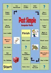 Картинки по запросу past simple regular verbs board game