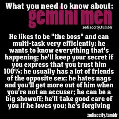 Zodiac City What you need to know about Gemini men