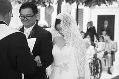 Freed Photography DC MD VA weddings Gaylord National Harbor wedding ceremony Beautiful lace veil