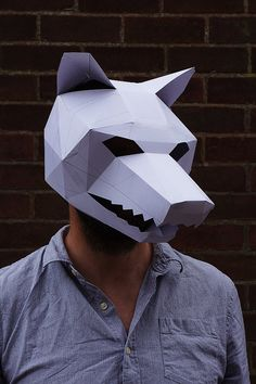 Make your own Big Bad Wolf Mask by Wintercroft on Etsy