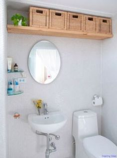 Clever Bathroom Organization Ideas and Tips 006