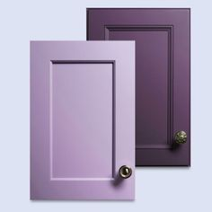 Rich purply hues are everywhere this year and now even on cabinets, with shades like Brazilian Orchid and African Lotus from plainfancycabinets.com  