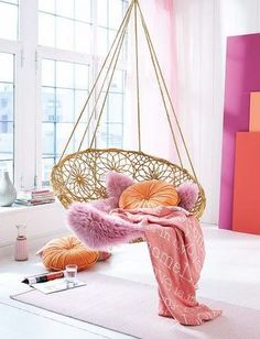 ♥️ swinging chair | hang loose | colorful home decoration